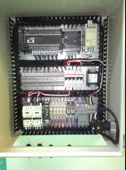 How to wire a PLC to a control panel ?