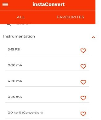 InstaConvert the best calculator app for instrumentation and electrical engineers (FREE)