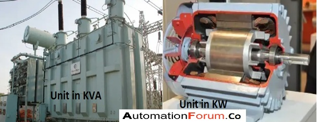 What is the difference between KW and KVA and why the transformer is in kVA?