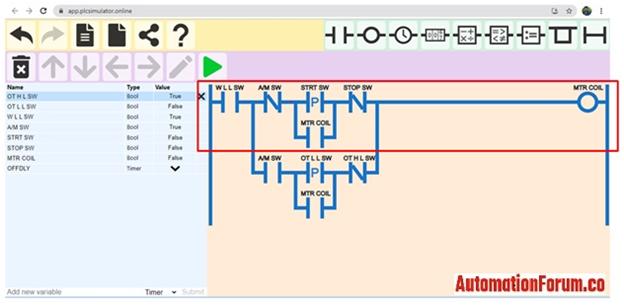 Manual mode rung